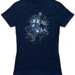 Doctor Who T-Shirt with The Tardis breaking time