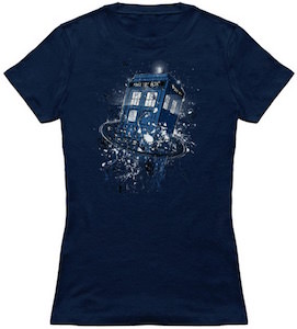 Tardis Breaking Time T-Shirt