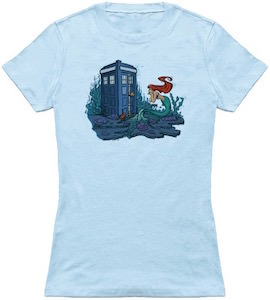 The Tardis And The Little Mermaid T-Shirt