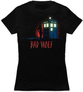 Bad Wolf And The Tardis T-Shirt