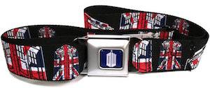 Seatbelt Style Tardis Union Jack Belt