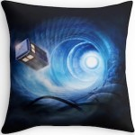 Doctor Who Tardis In A Vortex Throw Pillow