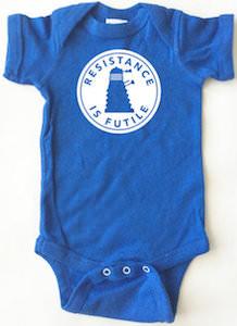 Resistance Is Futile Dalek Baby Bodysuit