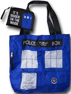 Foldable Tardis Tote Bag