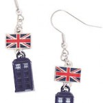 Tardis Earrings With The Union Jack Flag