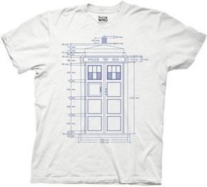 Tardis Blueprint T-Shirt