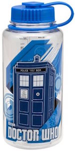 Tardis Water Bottle That Holds 32 Ounce Of Water