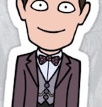 Dr. Who 11th Doctor Die Cut Sticker