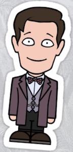 11th Doctor Die Cut Sticker