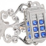 Doctor Who Filigree Style Tardis Ring