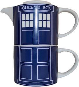 Tardis Stackable Teapot and Mug