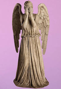 Weeping Angel Giant Wall Decal