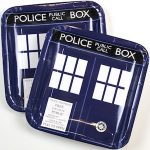 Doctor Who Tardis Paper Plates for sale