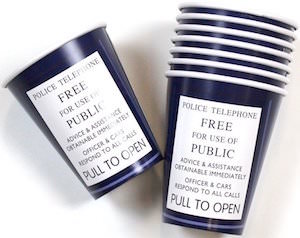 Tardis Paper Cups