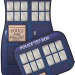 Doctor Who Blue police box car floor mats