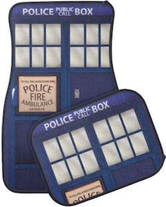 Doctor Who Tardis Blue Police Box Car Floor Mats