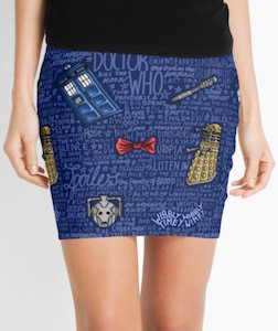 Doctor Who Themed Pencil Skirt
