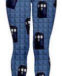 Dr Who Tardis Paneling Leggings