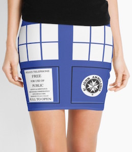 Tardis Doors Women's Skirt