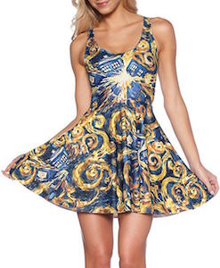 Exploding Tardis Sleeveless Dress