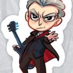 12th Doctor Die Cut Cartoon Style Sticker