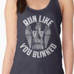 Doctor Who Weeping Angel Run Like You Blinked Tank Top