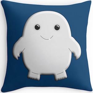 Blue Adipose Throw Pillow