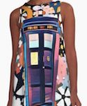 Doctor Who Tardis Art Dress With Gears