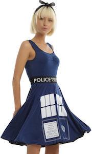 Doctor Who Tardis Skater Style Dress