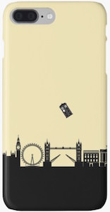 Tardis Over London iPhone Case