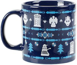 Doctor Who Ceramic Ugly Sweater Christmas Mug