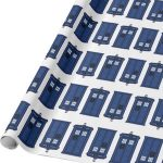 Tardis Blue And White Wrapping Paper