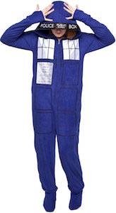 Dr Who Tardis Onesie Pajama