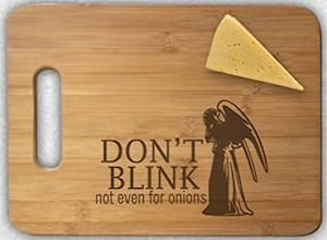 Doctor Who Weeping Angel Cutting Board
