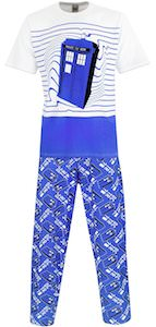 Tardis In Time Pajama Set
