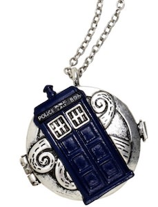 Tardis Compass Necklace