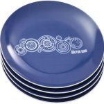 Blue Doctor Who Gears Ceramic Plates