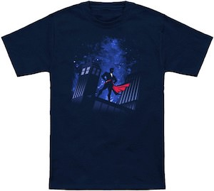 The Tardis And The Doctor On The Roof T-Shirt