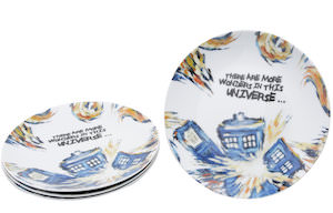 Exploding Tardis Ceramic Plate Set