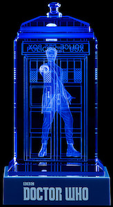 Crystal Tardis Light With The 12th Doctor Inside
