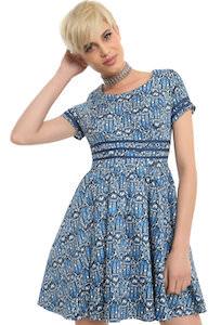 Tardis Art Nouveau Print Dress