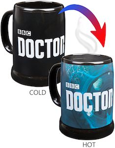 Doctor Who Logo Heat changing Mug