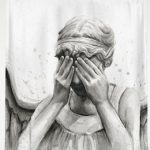 Doctor Who Weeping Angel Shower Curtain