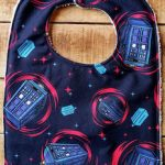 Doctor Who Galaxy Tardis Baby Bib
