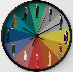 12 Doctors Wall Clock