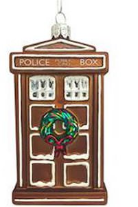 Tardis Gingerbread Cookie Christmas Tree Ornament
