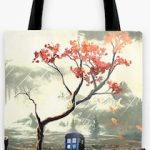 Tardis And A Tree Tote Bag