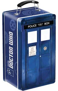 Metal Tardis Lunch Box