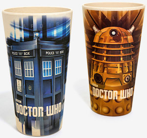 Tardis And Dalek Reusable And Biodegradable Cups