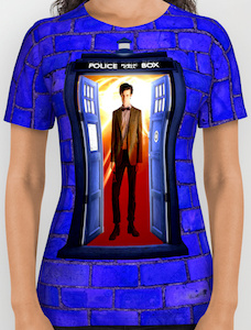 Blue Wall And The 11th Doctor T-Shirt
